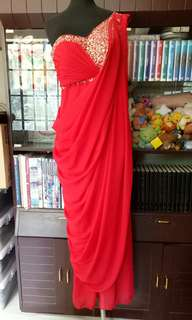 Red Goddess Gown - adjustable fits small, medium, large