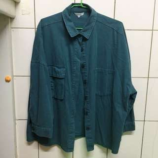 Queen shop 多色口袋襯衫 綠色款