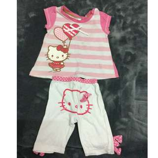 Hello Kitty Top + Pants 0-6 Months Girl