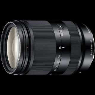 SONY lens E-mount OSS LE 18-200mm