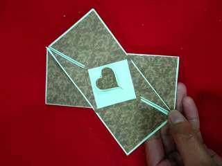 Diagonal Fold Card
