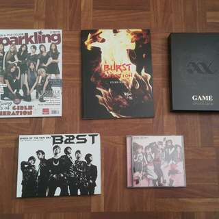 Kpop Albums and Sparkling Mag