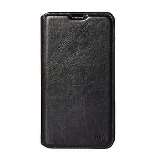 Asmyna MyJacket Wallet with Tray for Nokia Lumia 1320 - Retail Packaging - Black
