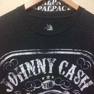 Ts Johnny Cash 'man in black' Tennessee three sz M tag zion