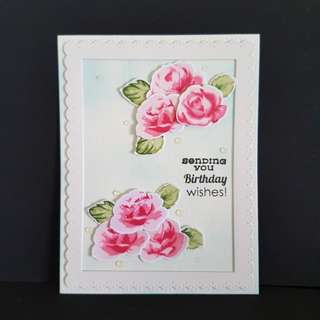 Birthday Card, Roses