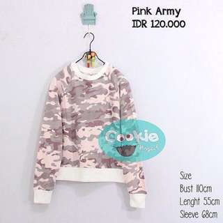 Sweater Army Pink