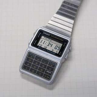 Casio 文青復古手錶 計數機 DBC-611 不鏽鋼色 g-shock, baby g