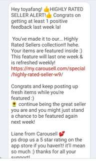 10th highly rated seller notice!! 😁🌟💗 Thanks Carousell😊