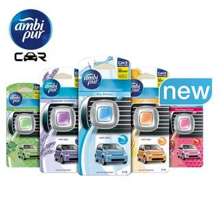 [STOCK CLEARANCE] 2X AMBI PUR CAR MINI VENT CLIP CITURS CAR AIR FRESHENER (2ML each)