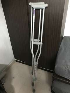 Crutches and Air cast boots