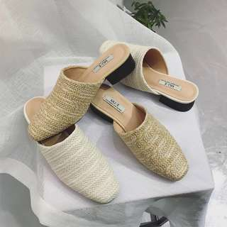 Weaved Front Mules