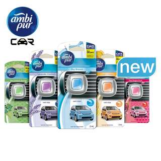 [STOCK CLEARANCE] 2X AMBI PUR CAR MINI VENT CLIP LAVENDER CAR AIR FRESHENER (2ML each)