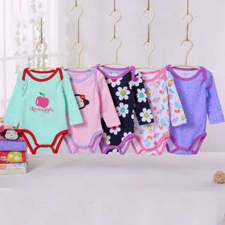 rompers Carter's Long Sleeves 5pcs