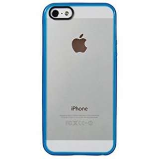 iPhone 5s Case, LUVVITT [ClearView] Hybrid Scratch Resistant Back Cover with Shock Absorbing Bumper for Apple iPhone 5 /5s - Transparent Blue