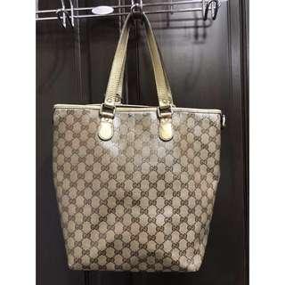 🚚 Gucci金色購物袋包-義大利製-歐洲帶回