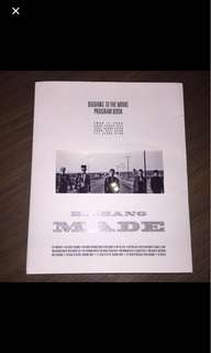 BIGBANG 10 The Movie Program Book