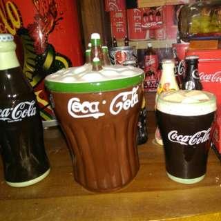 Botol merica,gelas dan botol coca