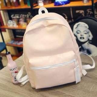 [INSTOCKS] Ladies PU Leather Backpack in Pink
