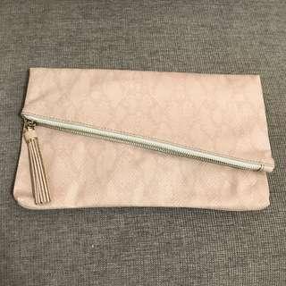 (最後一個)全新bread n butter裸粉色兩用手袋 shoulder bag clutch