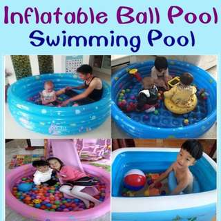 Kids Inflatable Swimming Pool - ball or water