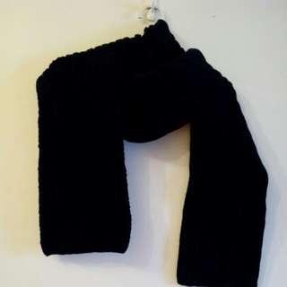 🚚 全黑 圍巾