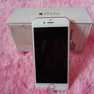 Iphone 6 64gb ex garansi inter sing gold