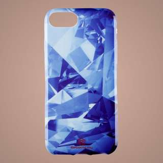 Light Blue Geometry Marble Iphone Case