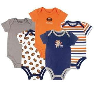 Baby Rompers Carter's 5pcs short sleeves