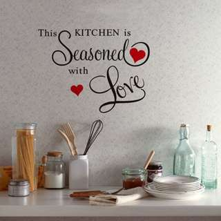 Decor Home Art This KITCHEN Is Seasoned With Love Wall Sticker Kitchen Decal