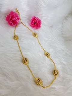 Gold Plated chain with diamond ball