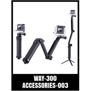 WAY-300 Gopro 3-Way Monopod Grip Arm
