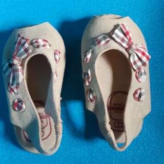 Peep-toe baby Espadrille