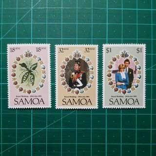 1981 薩摩亞 英國皇室大婚紀念 新票一套