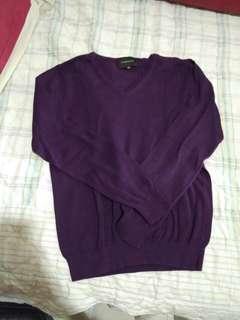 1 set Atasan sweater dan legging Ungu