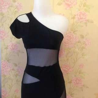 Dress black stretch 65k