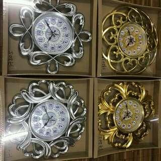 Bronzing plastic wall clock