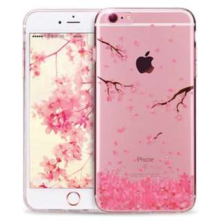 iPhone 8 and iPhone 7 Clear Case with Diamond Sakura Design