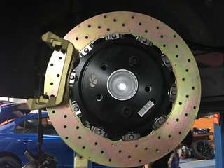 CLA 45 350mm rear disc rotor set