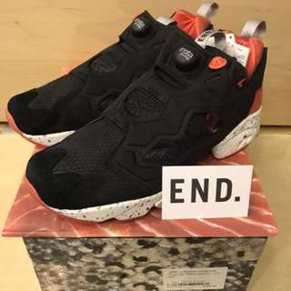 全新 Reebok x Endclothing Insta Pump Fury OG 'BLACK SALMON' UK 9.5