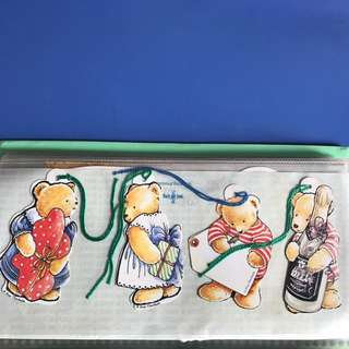 Collectible Cute Lovely Bears Bookmark (Set of 4)