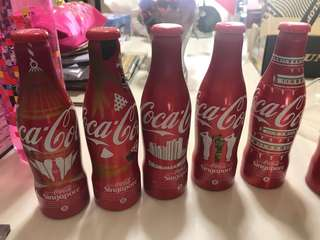 Coca Cola SG50 bottles unopened