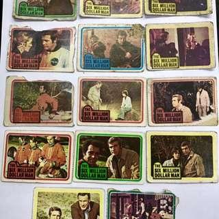 Vintage 6 Million Dollar Man Cards
