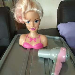 Barbie Doll hairstylist set with dryer