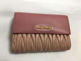 Miumiu 粉紅銀包