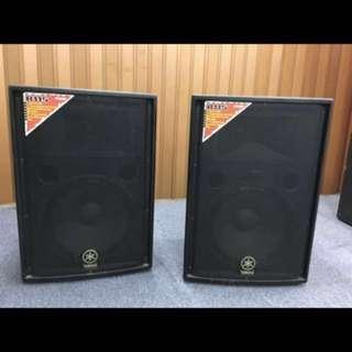 "Yamaha 15"" PA Speaker Pair Model R15 500Watts at 8 Ohms ."