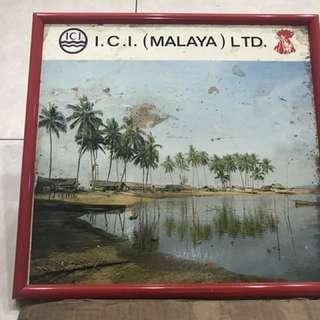 Vintage ICI Malaya Sign