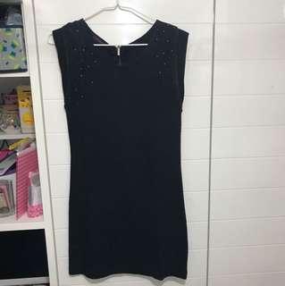 黑色連身裙,購自尖沙咀利時店,made in Korea