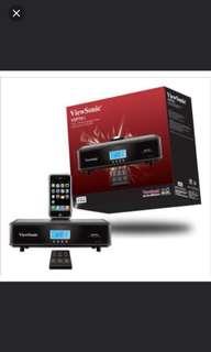 iPod iPhone Speaker Viewsonic FM Radio FULL BOX