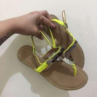 BCBGeneration Neon Flat Sandals