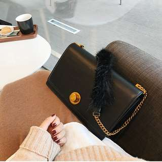 Ellen shoulder bag (Black) [Premium]